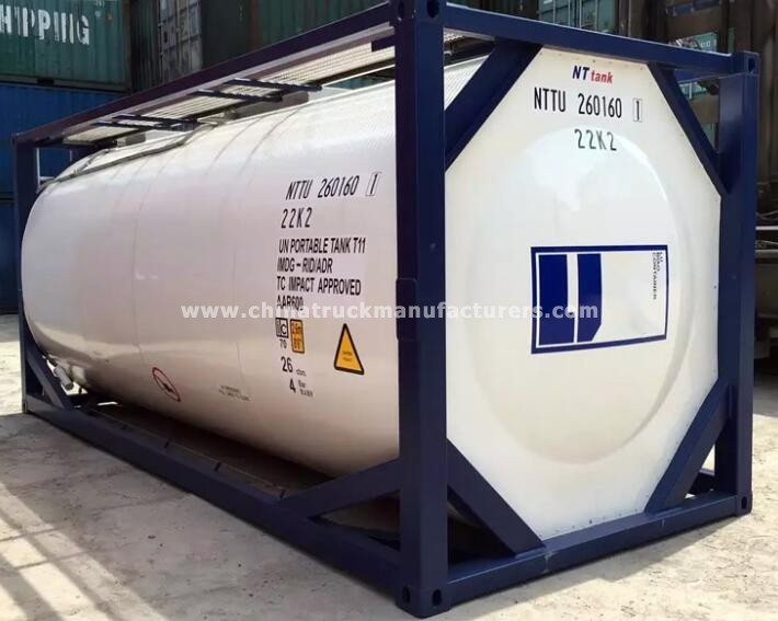 China 20 ft stainless steel liquid food tank container