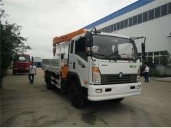 4*2 China 3 ton crane truck