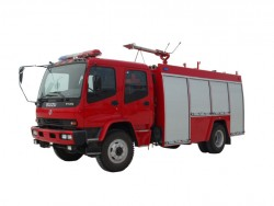 china 4*2 water and foam tanker fire truck