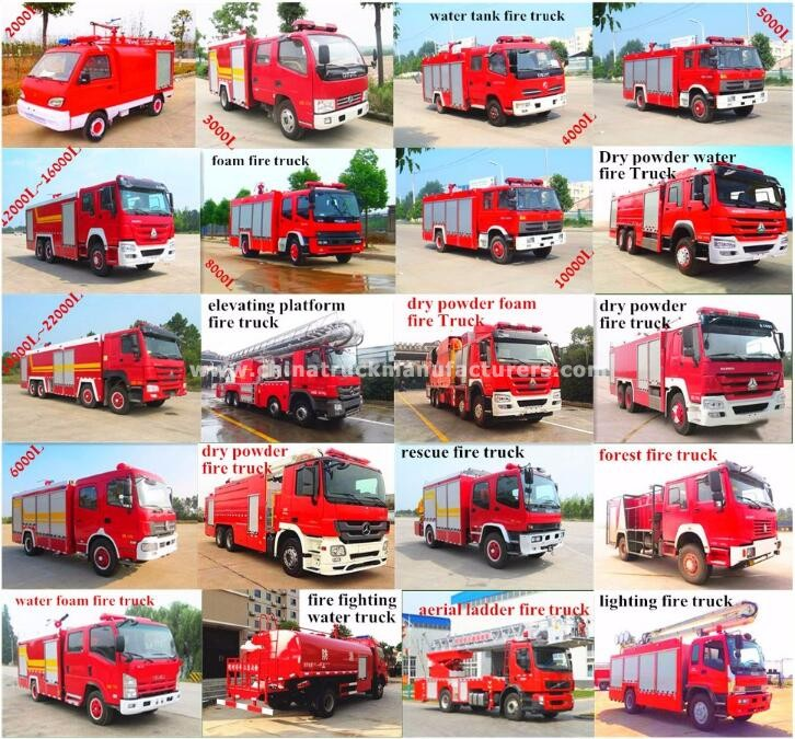 China Fire Water Trucks Suppliers