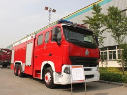 China 8 ton water and 4 ton foam fire fighting truck