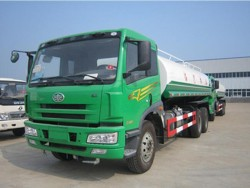 FAW 6x4 5000 gallon water tank truck