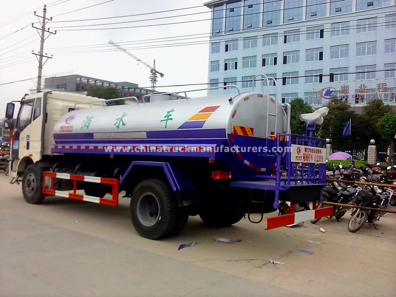 FAW J6 4X2 3500 gallon water trucks