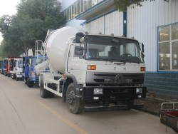 China 4x2 concrete mixer truck 6m3