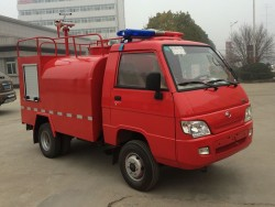 China 2 ton water tank fire fighting truck