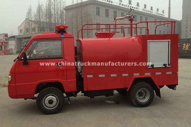 China 2 ton water tank fire fighting truck
