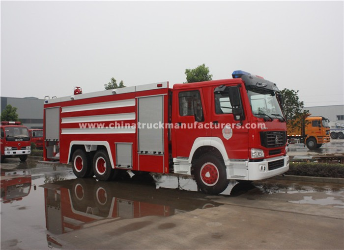 China 6x4 12 ton fire fighting truck