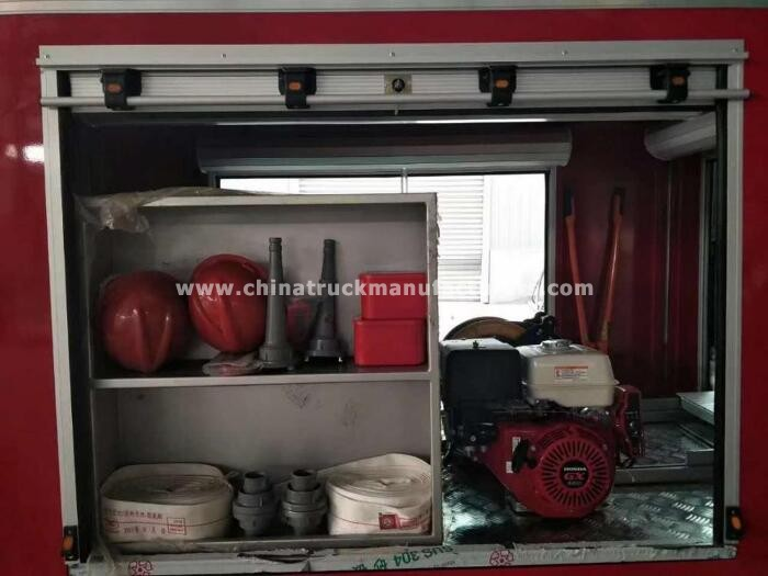 400L 2 seats electric fire fighting truck