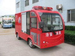 400liters 2 seats electric fire fighting truck