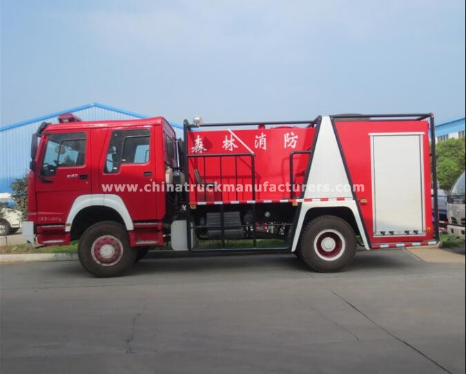 China 6m3 water foam fire fighting truck