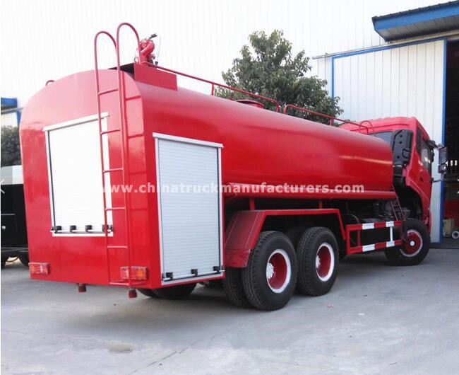 Dongfeng 6x4 15000 Liters water tank fire fighting truck