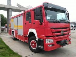 knuncle crane howo rescue fire truck