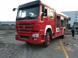 Howo 4x2 Dry Powder Fire Fighting Truck