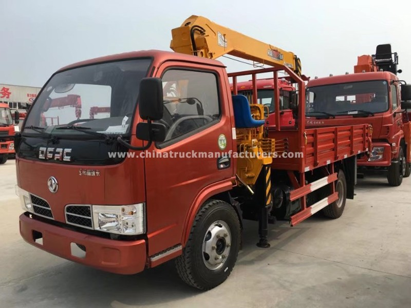 Dongfeng mini 2 ton truck with crane