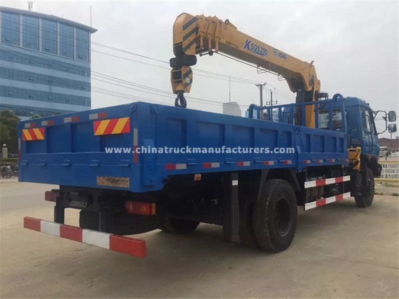 Dongfeng 4x2 5 ton truck with crane