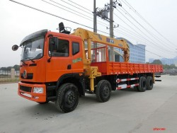 Dongfeng 8x4 12 ton truck with crane