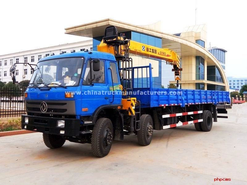 Dongfeng 6x2 8 ton truck with crane