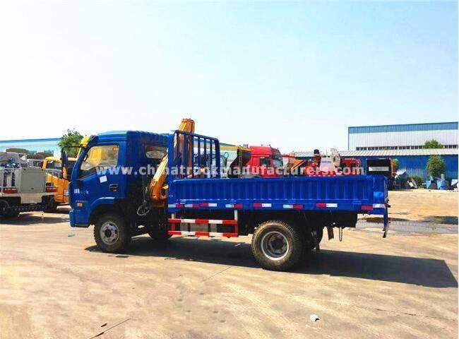 YueJin 4x2 3.2 ton Telescopic boom truck mounted crane