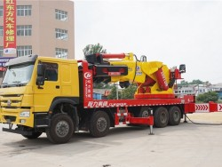howo 8x4 80 ton truck mounted crane