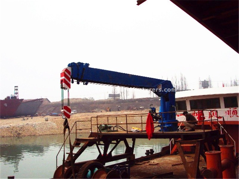 telescopic boom 20 ton ship crane
