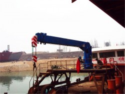 telescopic boom 20 ton ship crane