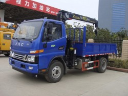 jac 4x2 2 ton truck with lifting crane