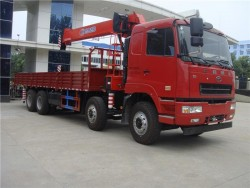 CAMC 8x4 16 ton truck with lifting crane