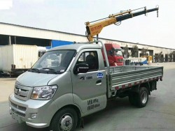 CNHTC 1 ton truck with lifting crane