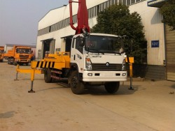 china 4x2 22 meter concrete pump truck