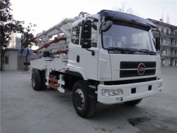 china 4x2 28 meter concrete pump truck