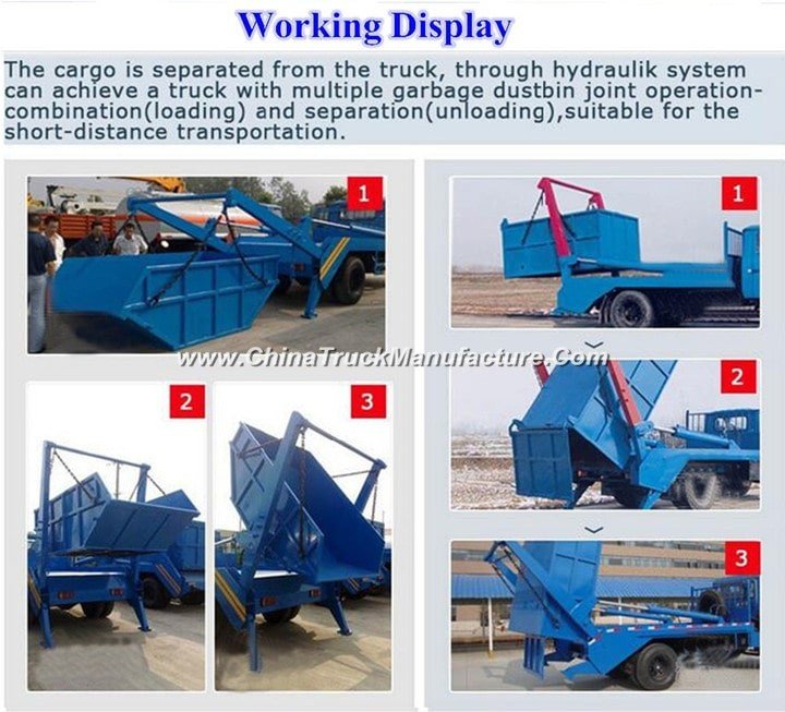 China 4x2 6 ton Swing Arm Garbage Truck