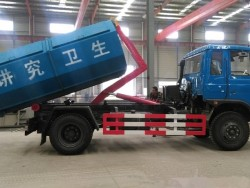 China 6 wheel 12 ton bin lifter garbage truck