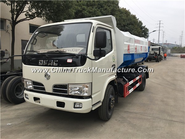 China 4x2 5 ton Hydraulic Lifter Garbage Truck