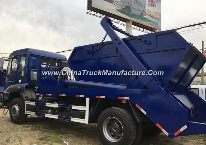 China 4x2 12 ton container lifter rubbish truck