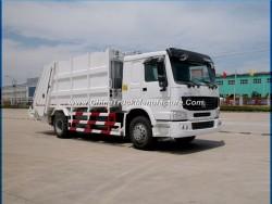 HOWO 6-Wheeler 8tons Garbage Truck 12m3 Garbage Compactor Truck