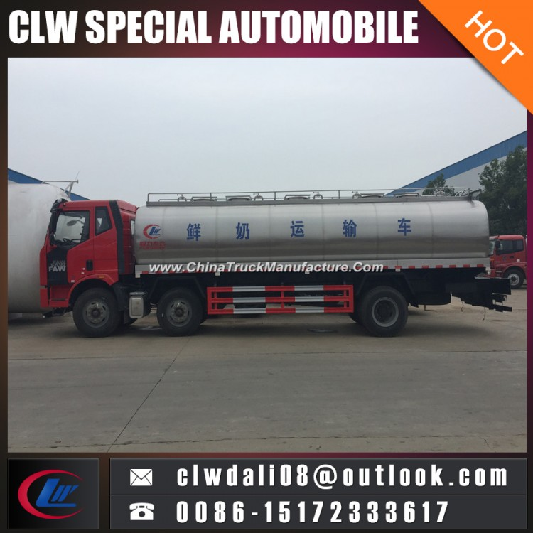 Food Grade Ss Milk Tanker Truck, 6*2 16cbm Insulated Tank Truck for Milk Delivery