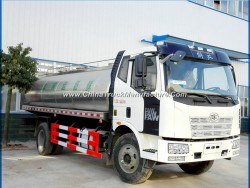 FAW Insulated Milk Delivery Truck 12 Tons Milk Tank Truck