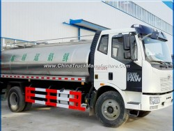 FAW Insulated Milk Delivery Truck 12000L 12tons Milk Tank Truck