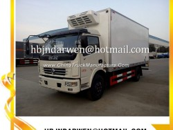 Dongfeng Load 6-8ton Brand New Refrigerated Van Truck for Sale