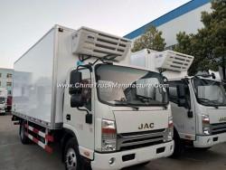 JAC Cold Freezer Transport Truck 5 Tonne Gvw Refrigerated Box Vans for Sale