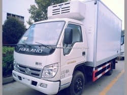 Mini Type Light 5t Freezer Box Truck for for Frozen Seafood Meat Fruit