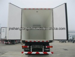 HOWO 6X4 Van Refrigerator Truck with Indenpendent Cool Unit