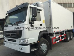 HOWO 6X4 Freezer Truck for Chincken with Japan Cooler