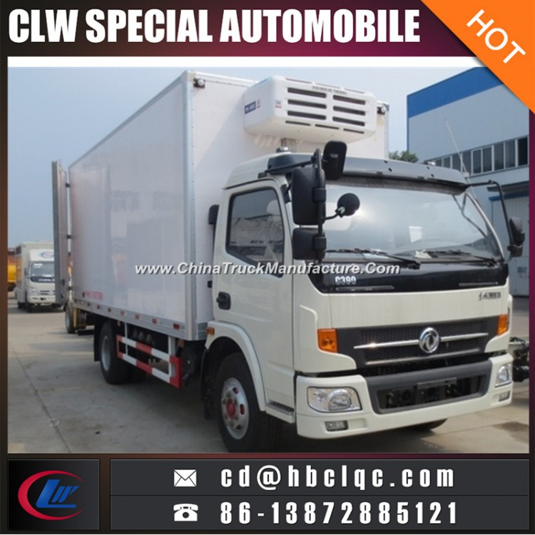 Low Price Dongfeng 8t Refrigeator Van Truck Insulated Van Truck Body