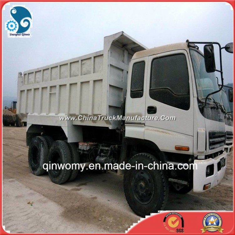 360HP/10cylinders Munal Contral 6*4 Cargo Delivery Used Isuzu Dump Truck