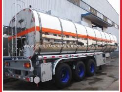 China Aluminium Tank for Fuel Oil/Water Storage Semi Tank Trailer