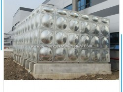 Ss304 SMC Stainless Steel Water Pressure Tank for Storage Water