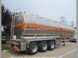 Aluminum Alloy 3 Axle 49000L Fuel Tank with Semi Trailer