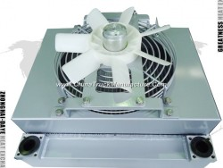 Aluminum Plate Fin Air Compressor Heat Exchanger Vacuum Brazed Cooling System/ Fin Plate Heat Exchan