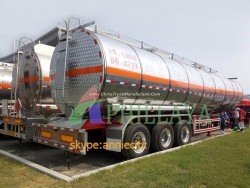 Air Brake System )Fuel Transport Truck and Trailer Aluminium Tank